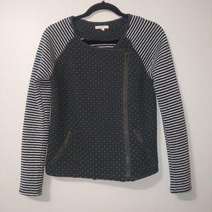 Mystree (Anthropologie) heart & stripe sweatshirt
